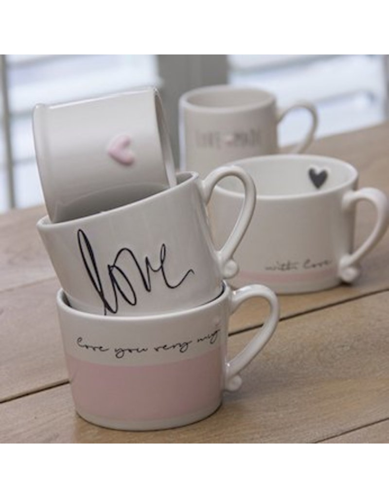 Bastion Collections BC Mug White/Rose With love