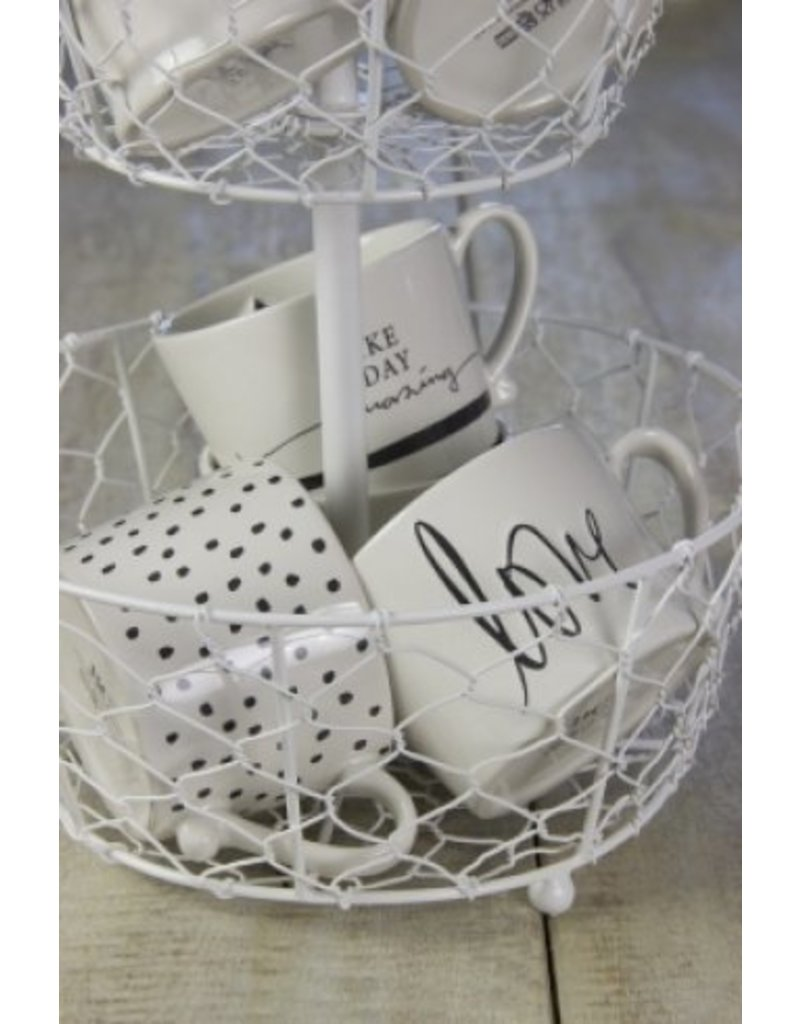 Bastion Collections Mug White/little dots in black