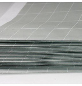 Papieren zak ruit groen/wit