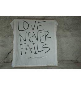 Modern Burlap Hydrofieldoek XXL love never fails