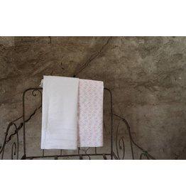 P&T originals 8175 Dekenovertrek roze/wit
