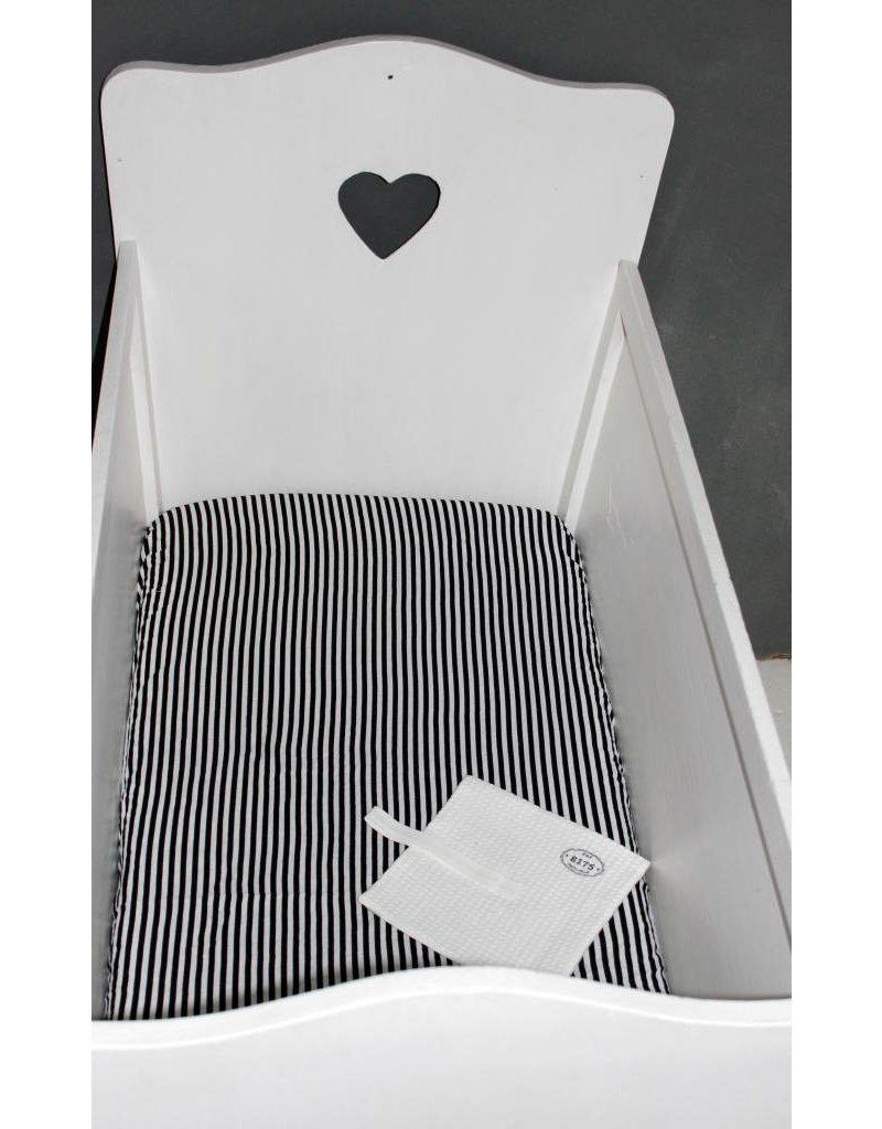 Modern Burlap Ledikant hoeslaken wit/zwart gestreept