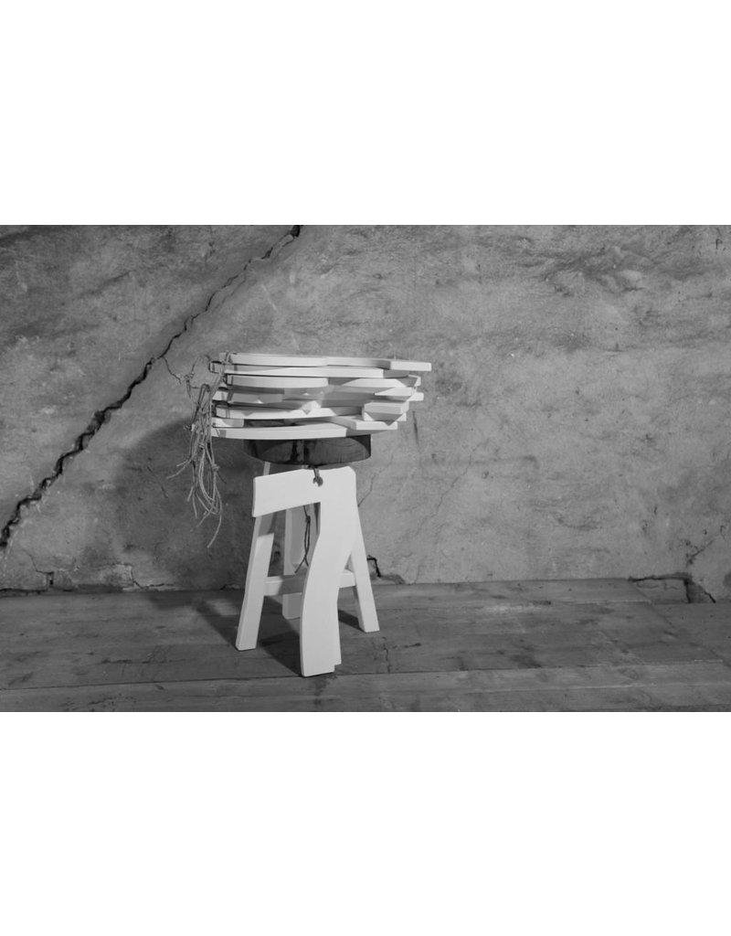 P&T originals 8175 Authentieke kruk met witte poten