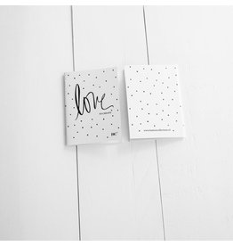 Bastion Collections Notebook klein love/dots