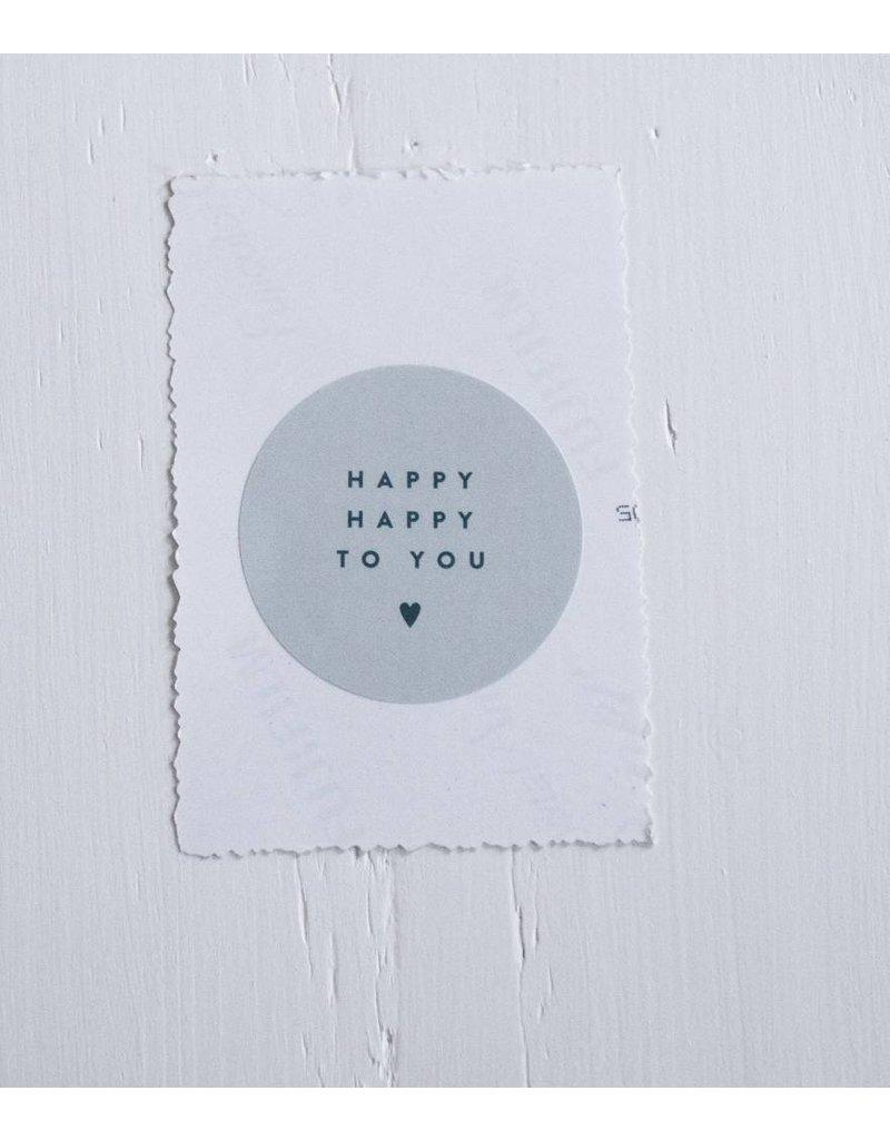 LabelSticker rond groen : Happy Happy to you