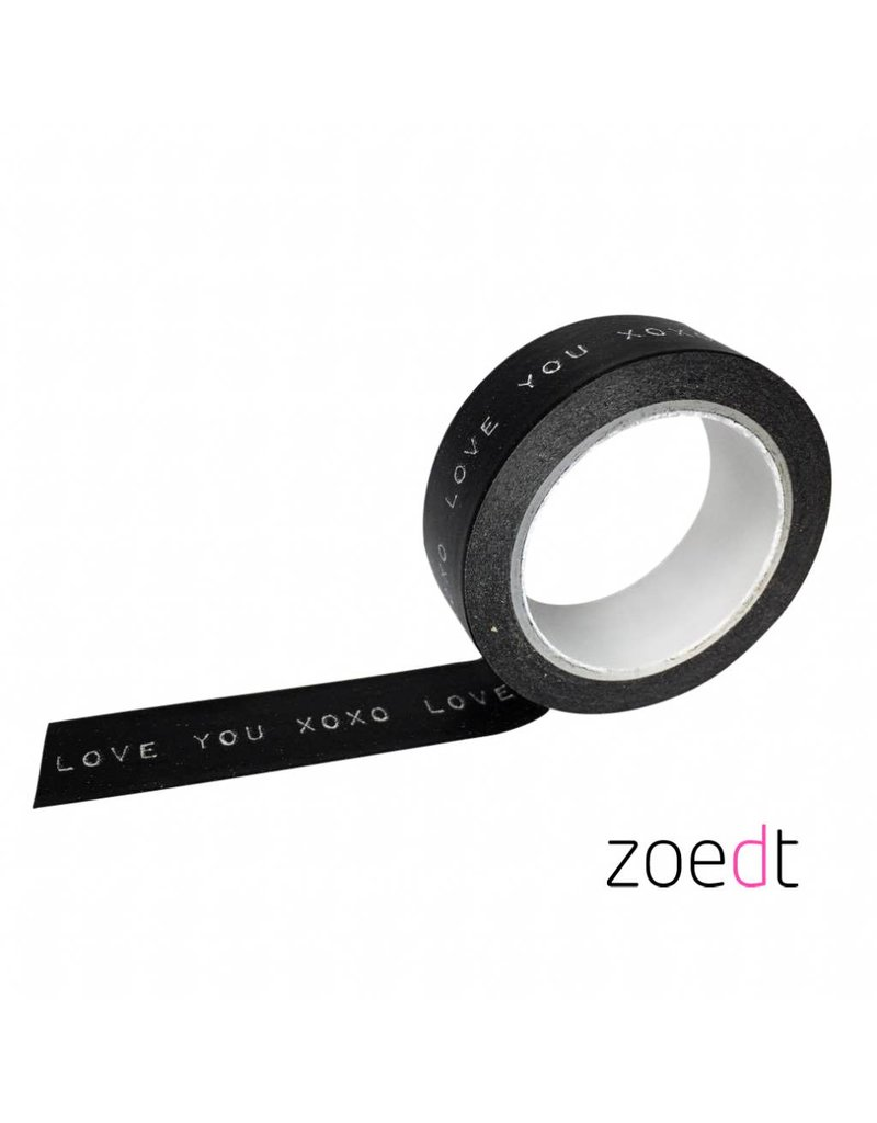 Zoedt Masking tape love you xoxo
