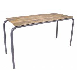 KIDSDEPOT Pure tafel hout-metaal, grey