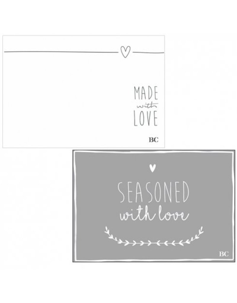 Bastion Collections BC Tablemat blocks 50 sheets MADE WITH LOVE