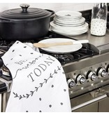 Bastion Collections Kitchen Towels 50x70 White/Black