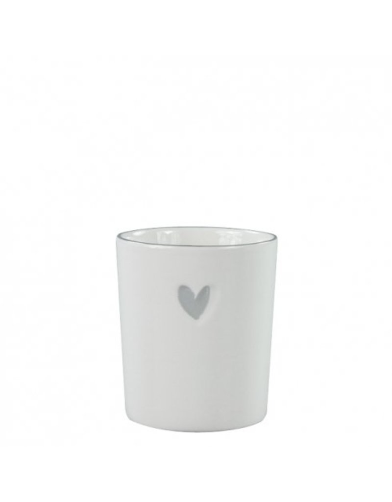 Bastion Collections Mug With/Heart in Grey