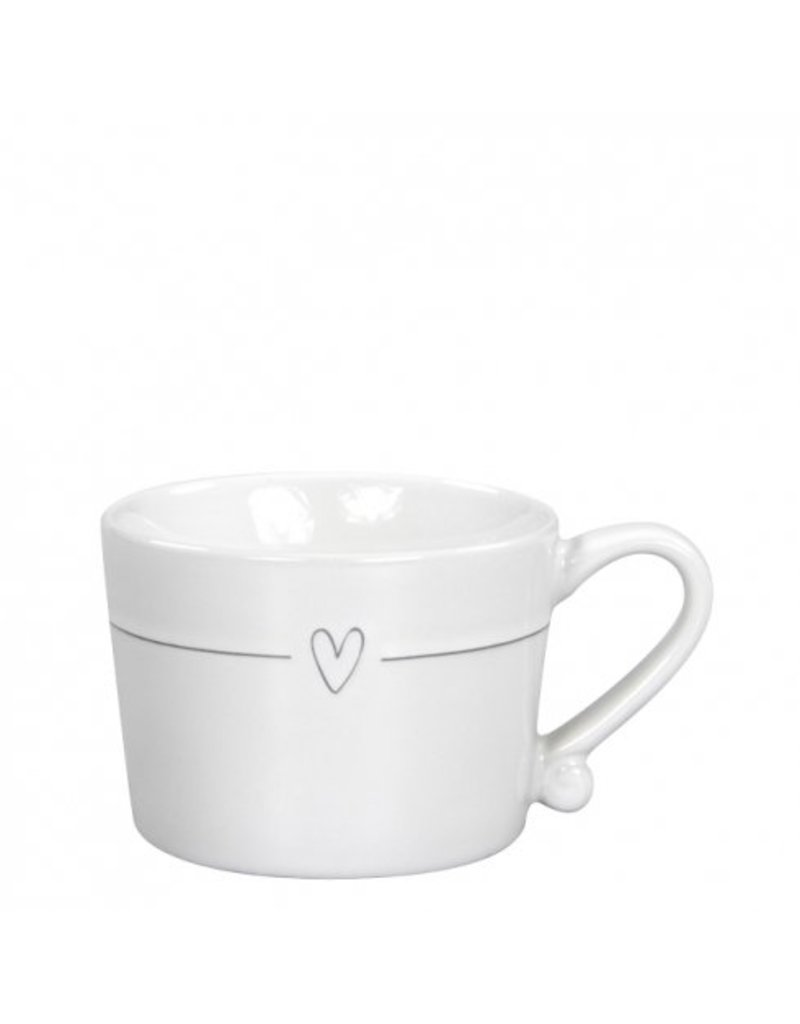 Bastion Collections Mug Small White / Line heart in Grey