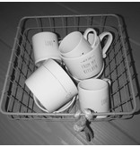 Bastion Collections Mug Small White /From me to You in Black