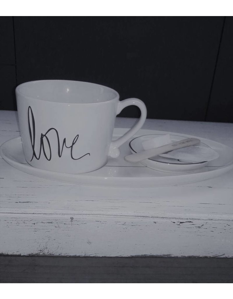 Bastion Collections BC Mug White/Love in black
