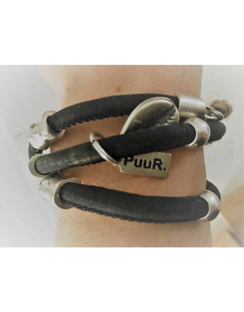 Puur Zwarte Stoere Armband