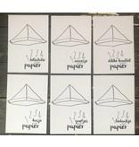 PIT Tekst en creatiebureau 6 wenskaartjes van papier