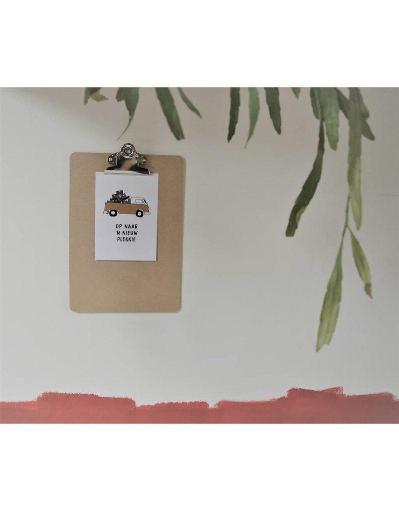 PIT Tekst en creatiebureau Wenskaart - verhuizen