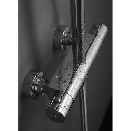 Brauer Brauer Stuttgart Showerpipe Met 20cm Douchekop Chroom