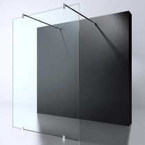 "BD ""ERICO"" vrijstaande wand 120x200cm NANO glas 8mm"