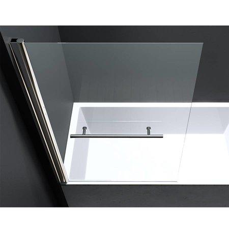 "Best Design BD ""ERICO"" badwand incl.Handd-Beugel 80x140cm NANO glas 6mm"