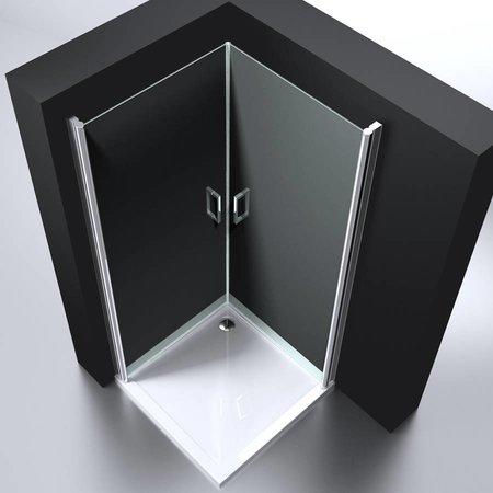 """Best Design BD """"ERICO"""" vierkante cabine m.2 deuren 90x90x192cm NANO glas 6mm"""