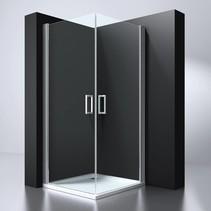 "BD ""ERICO"" vierkante cabine m.2 deuren 100x100x192cm NANO glas 6mm"