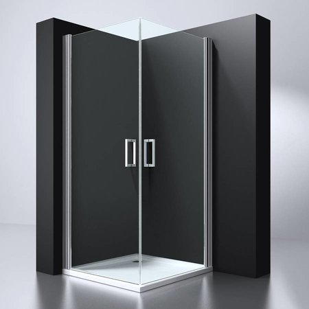 """Best Design BD """"ERICO"""" vierkante cabine m.2 deuren 100x100x192cm NANO glas 6mm"""