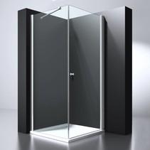"""BD """"ERICO"""" vierkante cabine met 1 swing deur 100x100x200cm NANO glas 6mm"""