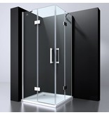 """Best Design BD """"ERICO"""" Q4 vierk-hoekinstap 90x90x195cm NANO glas 6mm"""