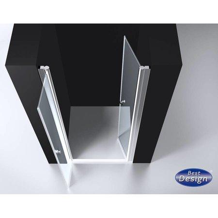 """Best Design BD """"ERICO"""" Pendeldeur met profiel 76-79cm H=200cm NANO glas 6mm"""