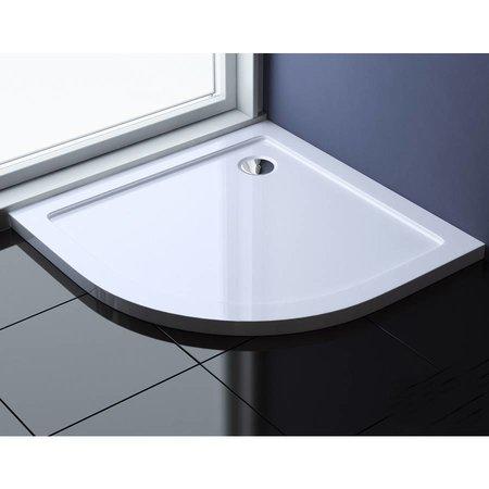 """Best Design """"Dona"""" Lage douchebak 1/4"""" rond 90x90x4cm R=550"""