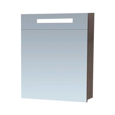 Samano Exclusive/NEXXT Spiegelkast   60 cm   antraciet   1 deur   linksdraaiend   LED verlichting   enkelzijdige spiegel