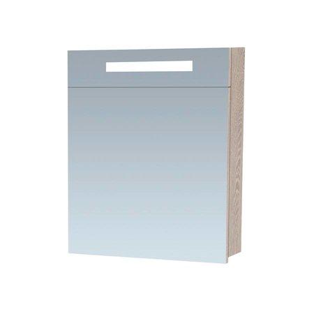 Samano Exclusive Spiegelkast | 60 cm | beach | 1 deur | rechtsdraaiend | LED verlichting | enkelzijdige spiegel