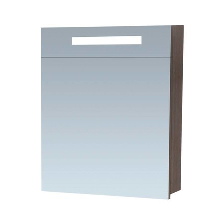 Samano Exclusive/NEXXT Spiegelkast | 60 cm | legno antracite | 1 deur | rechtsdraaiend | LED verlichting | enkelzijdige spiegel