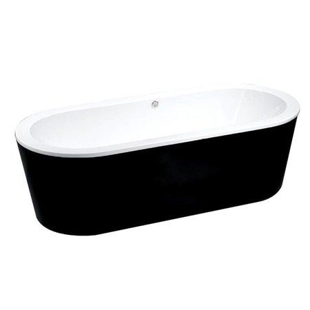 """Best Design Best Design Vrijstaand bad """"Black & White"""" 178x80x55cm"""