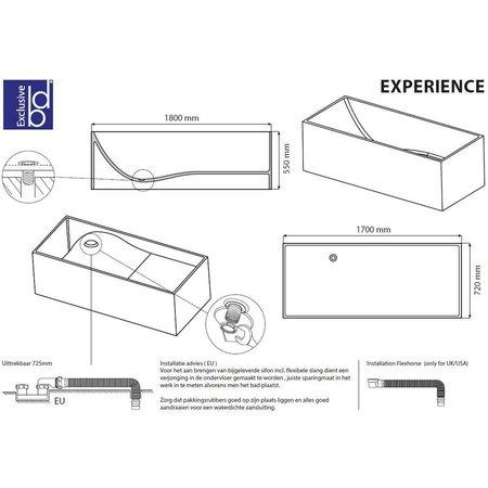 """Best Design Best Design """"Solid""""vrijstaand bad """"Experience"""" 170x72x55cm"""