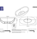 "Best Design Best Design ""Solid"" vrijstaand bad ""Cruise"" 180x80x60cm"