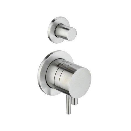 """Best Design RVS-304 """"ORE"""" Thermost. Inbouwkr.PULL & PUSH 2-weg 1/2"""" """"WHEEL"""""""