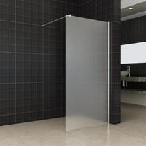 Wiesbaden inloopdouche+muurprofiel 900x2000 10mm NANO geheel matglas