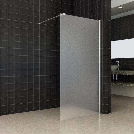 Samano Wiesbaden inloopdouche+muurprofiel 900x2000 10mm NANO geheel matglas