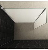 Samano Wiesbaden zijwand+hoekprof. 350x2000 10mm NANO voll.matglas