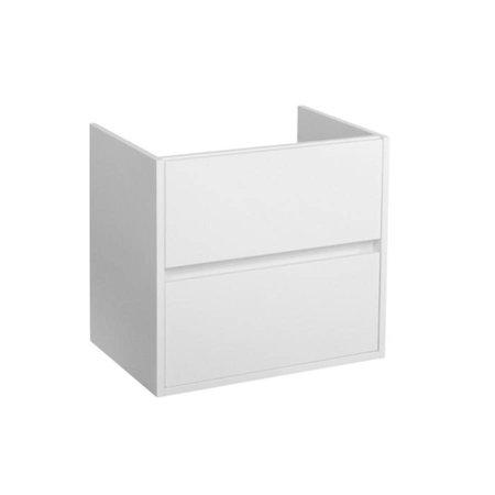 Samano Nexxt Onderkast Badkamermeubel | mat wit | 60 cm | greeploos | 2 lades | softclose