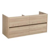 Nexxt Onderkast Badkamermeubel | legno calore | 120 cm | greeploos | 4 lades | softclose