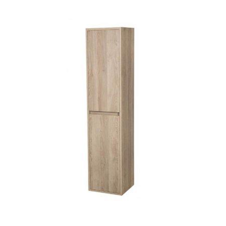 Samano Nexxt Hoge Kast Badkamermeubel | legno calore | 160 cm | greeploos | 2 deuren