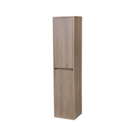 Samano Nexxt Hoge Kast Badkamermeubel | legno viola | 160 cm | greeploos | 2 deuren