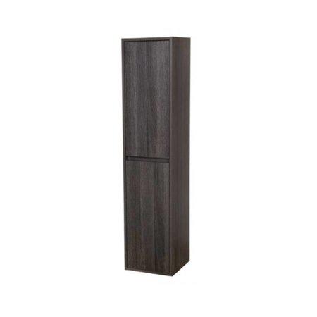 Samano Nexxt Hoge Kast Badkamermeubel | antraciet | 160 cm | greeploos | 2 deuren