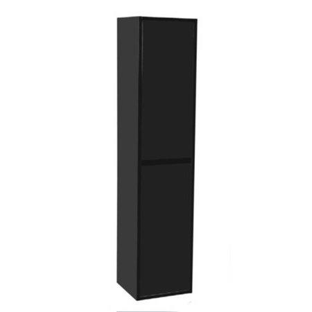 Samano New Future Kast Badkamermeubel | zwart | 160 cm | greeploos | 2 deuren