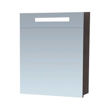 Samano Exclusive/NEXXT Spiegelkast | enkelzijdige spiegel | 60 cm | zwart | 1 deur | rechtsdraaiend | LED verlichting