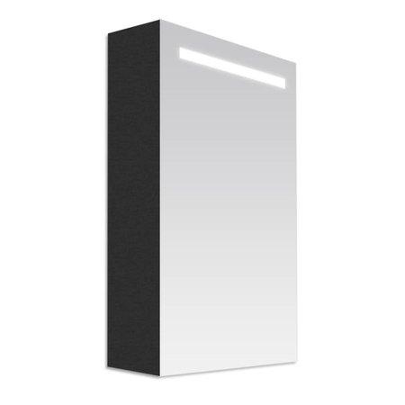 Samano Exclusive/NEXXT Spiegelkast | enkelzijdige spiegel | 60 cm | black diamond | 1 deur | linksdraaiend | LED verlichting