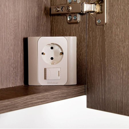 Samano Exclusive/NEXXT Spiegelkast | enkelzijdige spiegel | 60 cm | legno viola | 1 deur | rechtsdraaiend | LED verlichting