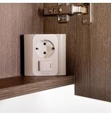 Samano Exclusive/NEXXT Spiegelkast | enkelzijdige spiegel | 60 cm | legno viola | 1 deur | linksdraaiend | LED verlichting
